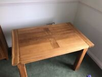 CHUNKY SOLID OAK DINING TABLE