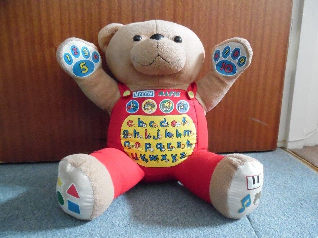 Vtech Alfie My Alphabet Friend Teddy Bear (Rare)