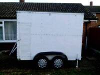 Box trailer 8ftx5ftx6ft twin axle side door and roller shutter, recent new tyres, only £495