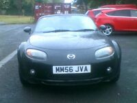 **IMMACULATE LOW MILAGE GLEAMING BLACK 2007 MAZDA MX5 2.0 SPORT 6 SPEED NEW SHAPE** MOT MAY 2018**