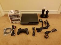 Sony Playstation 3 Slim 320gb boxed with games and accessories