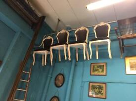 Nine French Dinning my chairs all for vintage restoring