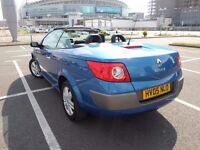Megane convertible 1.6 petrol panoramic glass room low mileage car - not kia, nissan , toyota