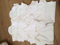 8 Baby bundle unisex plain white 0-3m short sleeve vests