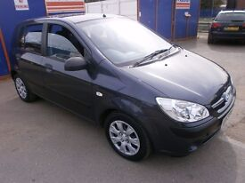 2007 HYUNDAI GETZ 1.4 5DOOR,HATCHBACK, FULL SERVICE HISTORY, CLEAN CAR, DRIVES VERY NICE, HPI CLEAR