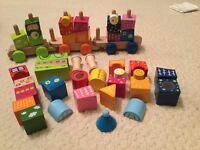 Hape Fantasia blocks and train wooden toys