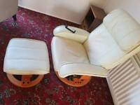 Massage chair and stool