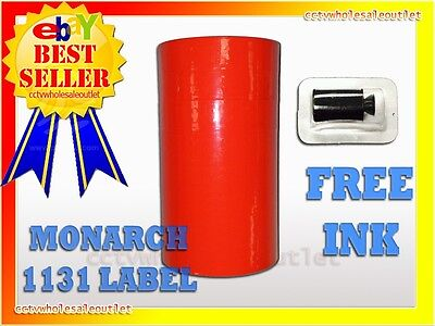 FLUORESCENT RED LABEL FOR MONARCH 1131 PRICING GUN 1 SLEEVE=8ROLLS
