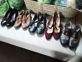 5 pairs of quality shoes, size 7-7.5/41-42. Includes 2 pairs of Brogues - Brown/purple. Fabulous!