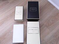 3 JO MALONE , 1 WHITE COMPANY, EMPTY GIFT BOXES, JO MALONE LONG MATCHES MATCHBOX NEW.
