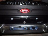 Professional DJ kit. Double turntable, amplifiers , many lights, bubble machine etc.