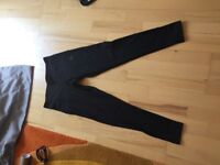Women's black adidas climalite leggings size small (8-10)