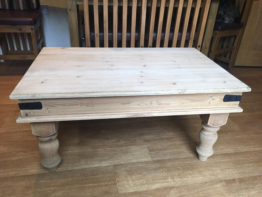 Natural Solid Pine Coffee Table