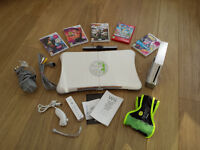Nintendo Wii with Fitness Board and games