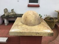 3 x Ornate Concrete Balls
