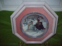 """Trisha Romance Collector Plate   """"Evening Skaters"""" With Certific"""