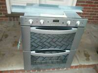 STAINLESS DOUBLE UNDER 60CM BUILT IN ELECTRIC FAN ASSISTED OVEN GRILL