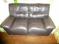 Brown double sofa £35