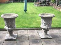 Ornamental concrete pots
