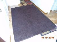 Chocolate coloured rug