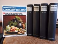 Boxed set of Cordon Bleu cookery course magazines