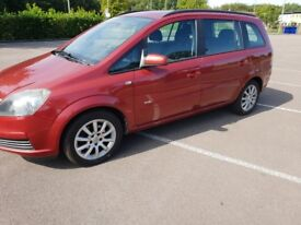Vauxhall zafira 7 seater excellent condition