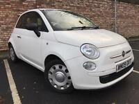 WHITE FIAT 500 1.2 POP 3 DOOR LONG MOT [not clio fiesta yaris polo golf astra]
