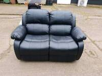 Recliner 2 seater black