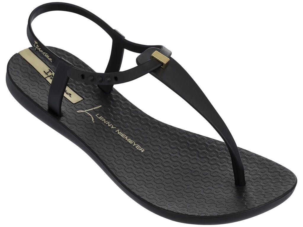 Ipanema Women`s Flip Flops Premium Lenny Desire Black Brazilian Sandal NWT
