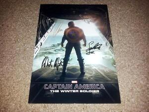 CAPTAIN AMERICA 2: WINTER SOLDIER PP SIGNED PHOTO POSTER 12