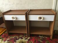 Two Bedside Tables (Oak Effect)