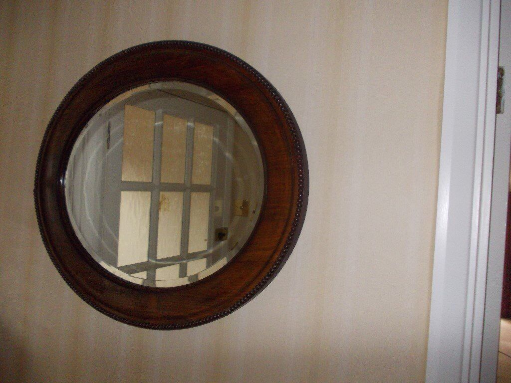 Lovely old oval mirror very good condition