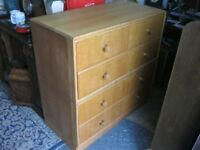 VINTAGE QUALITY 'MEREDEW' CHEST OF 4 DRAWERS. VIEWING / DELIVERY AVAILABLE