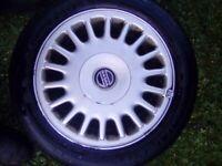 15 inch Alloy wheels & tyres - 4 stud - 4x100 PCD - 185/55R15