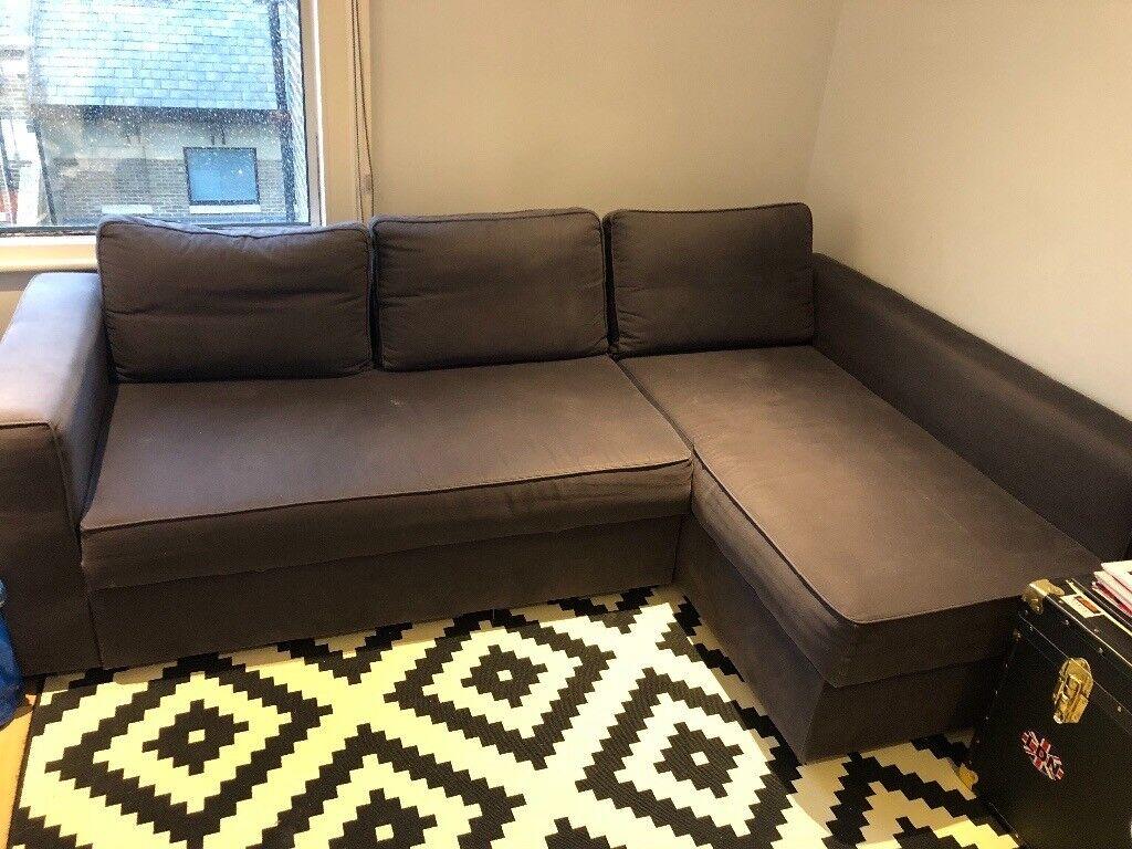 Ikea Corner Sofa Bed Grey In Hammersmith London Gumtree