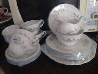 27 Piece Royal Standard Fine Bone China 6Cups Saucers Side & Cake Plates Sugar Bowl Milk Jug Platter