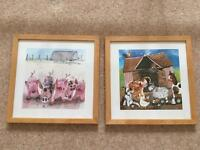 Set of 2 Framed Farmyard Pictures