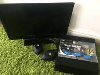 ps4 pro with games and hd tv