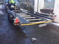 CAR TRANSPORT TRAILER WITH ELECTRIC WINCH