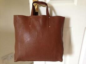 PULICATI. Large leather bag. Made in Italy