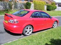 2005 MAZDA 6 SPORT 2.3 PETROL, MANUAL, LEATHER, GREAT ENGINE, MOT TILL OCTOBER, 1 OWNER FOR 12 YEARS