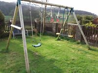 Swing set with extra attachments