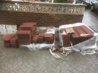 Over 250 redlin roof tiles for sale £50 pick up only