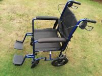 Lightweight Wheelchair - Features Handle Brakes - Fully Folding Quality Drive Adult Wheel Chair