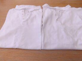2 Boys School Polo Shirts Age 14-15