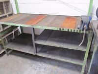 Workshop Bench and Vice