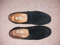 Black Suede Hush Puppies