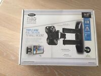Triple Arm Full Motion TV Wall Mount 13-23 inches