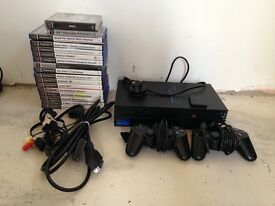 Playstation 2 with memory card and games