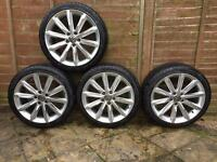 "VW/Audi 18"" Alloys with tyres all new BARGAIN"
